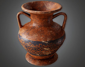 realtime Ancient Clay Pot 02 TRS - PBR Game Ready 3D