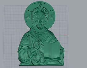 Mary with Child Medallion 3D print model mother