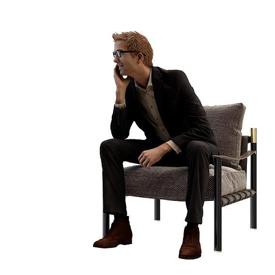 Iko armchair-Flou-Design by Rodolfo Dordoni