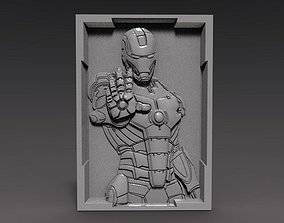 3D printable model Iron Man bas-relief cnc