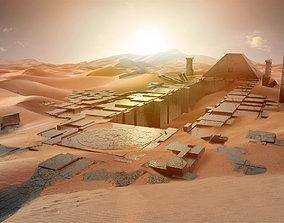 3D Ancient sci-fi city kitbash set