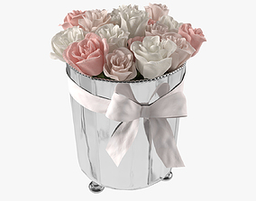 3D model Roses in ice bucket