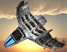 Sci-fi TITANIUN FIGHTER Ship 3D asset