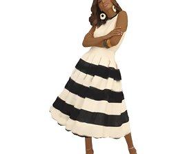 No437 - Woman Standing 3D model