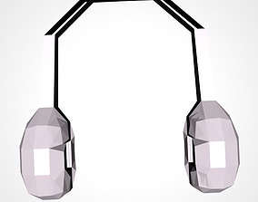 Headphone 3D model low-poly