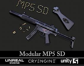 3D asset Modular MP5 SD - Textured - Game Ready