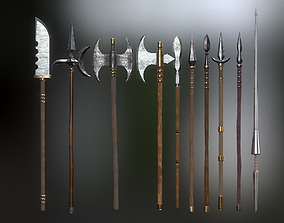 3D model Medieval Weapons Spear Collection - 01