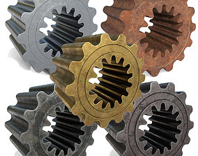 3D model Collection Metalic gears v1