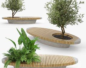 3D model Bench flowerbed