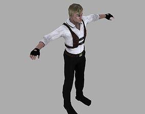 A man in a shirt 3D asset
