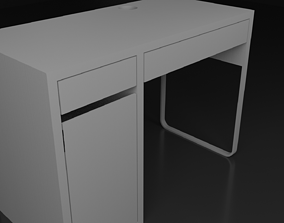 Table 3D model animated