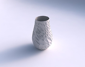 Vase twisted with crystal dents 3D print model