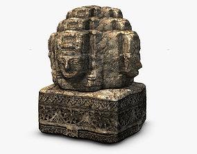 3D asset Ancient angkor stone head