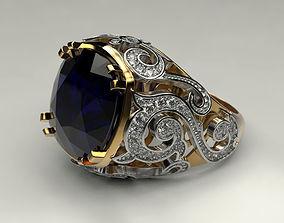 3D print model Ring with big gem