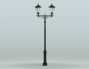 3D model outdoor Antique lamp post