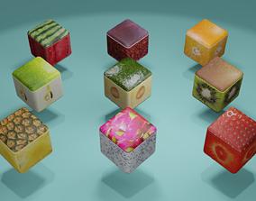 3D model Fruit Cubes