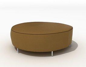 3D Furniture Brown Ottoman
