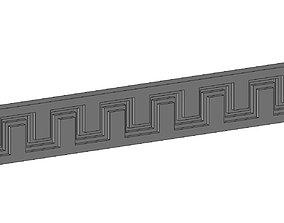 3D print model Greek key frieze panels for plaster and 1