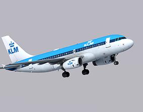 Airbus A319 KLM 3D asset