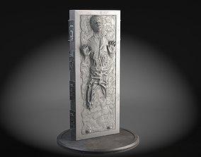 3D Star Wars Han Solo in Carbonite