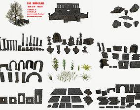 3D asset realtime ruin set