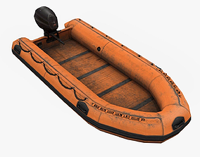 Inflatable boat 3D model VR / AR ready