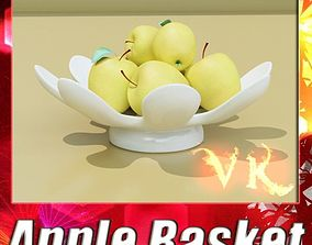 3D model Yellow Apples in Bowl