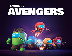 Among Us - Avengers Pack 3D model