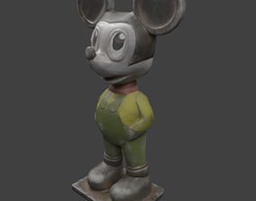 3D model Low poly soviet mouse