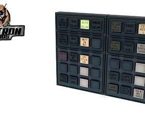 Control Panel Retro PBR Controller Neon Arcade 3D asset