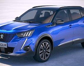 3D Peugeot e-2008 2020
