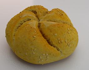 3D asset low-poly White Bread