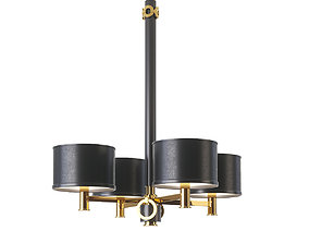 3D Pieter Adam Bronx 4 Shade Pendant Light Canadian Gold
