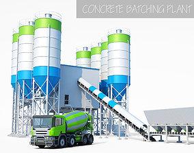 Concrete Batching Plant 3D model ranger