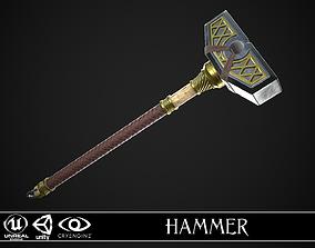 Fantasy Great Hammer 05 3D asset