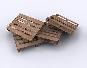 Wood Pallets 3D