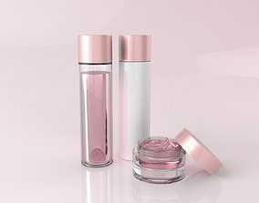 3D model Cosmetic Bottle Set