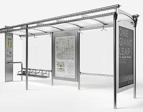 urban 3D model VR / AR ready Bus stop