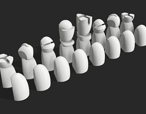 Minimal Chess set 3D printable model