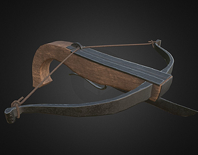 Medieval Hand Crossbow Asset 3D model low-poly