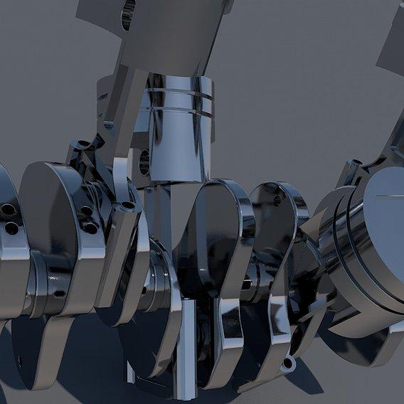 Piston Connecting Rod and Crankshaft