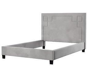 Halina Upholstered Platform Bed 3D bedroom