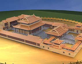 3D model Chinese ancient courtyard house
