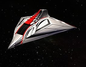 Spaceship 3D model VR / AR ready PBR