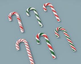 realtime 3D Asset - Christmas hook candy set