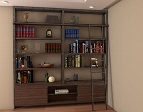 Bookcase notebook 3D