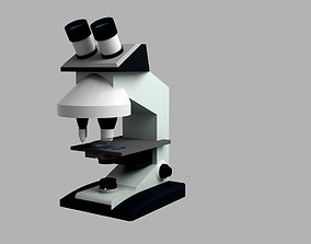 Compound Microscope 3D asset