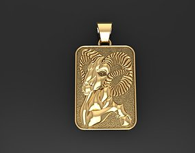 Zodiac Sign Aries pendant 3D printable model