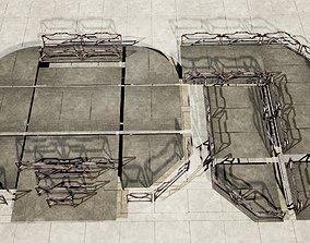 3D model sci fi walkway platform - modular kit -