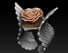 Ring - Rose 3D printable model